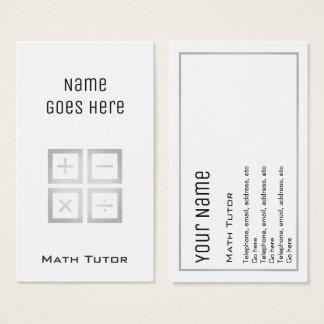 """Cartões de visitas """"essenciais"""" do tutor da"""