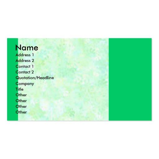 Cartões de visitas esverdeados da cor