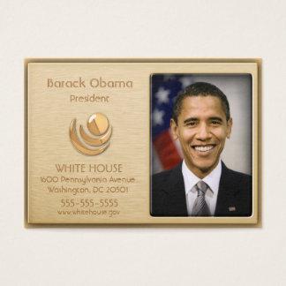 Cartões de visitas executivos do costume do ouro