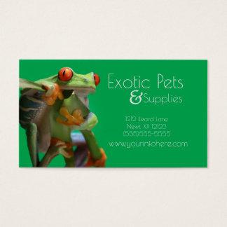 Cartões de visitas exóticos da loja ou do