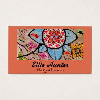 Cartões de visitas extravagantes florais & de
