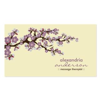 Cartões de visitas feitos sob encomenda da flor de