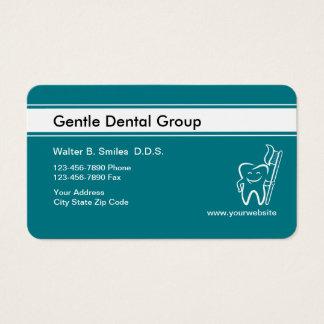 Cartões de visitas felizes do dentista