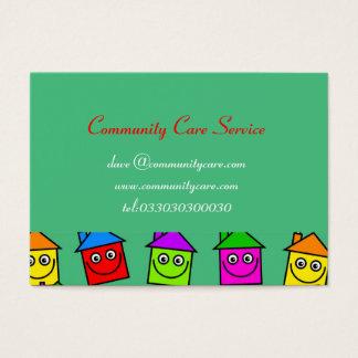 Cartões de visitas felizes do papel de parede da