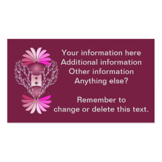 Cartões de visitas finos cor-de-rosa