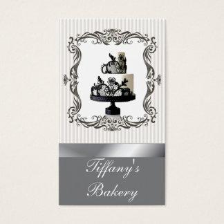Cartões de visitas finos do bolo de casamento da