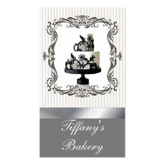 Cartões de visitas finos do bolo de casamento da p