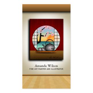 Cartões de visitas finos do pintor ou do