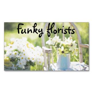 Cartões de visitas florais