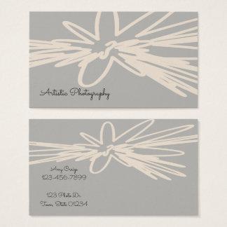 Cartões de visitas florais artísticos