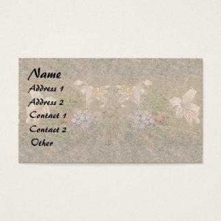 Cartões de visitas florais da guarnição das flores