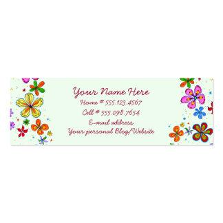 Cartões de visitas florais da ilustração