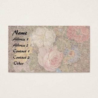 Cartões de visitas florais das flores dos rosas de