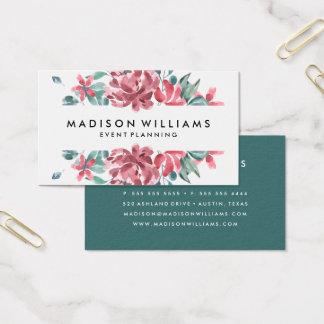 Cartões de visitas florais do sonho |