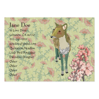 Cartões de visitas florais dos cervos delicados