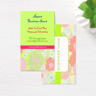 Cartões de visitas florais retros das papoilas
