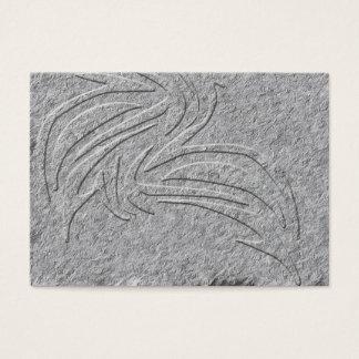 Cartões de visitas gravados tribais do asteca do