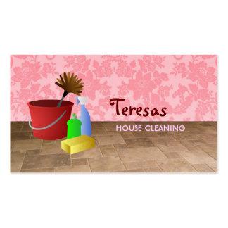 cartões de visitas home da limpeza