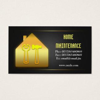 cartões de visitas home da manutenção da casa