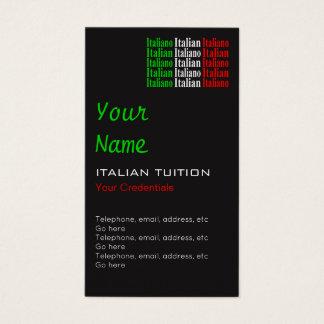 Cartões de visitas italianos da nomeação do tutor