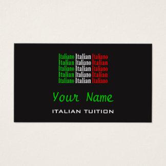 Cartões de visitas italianos do tutor