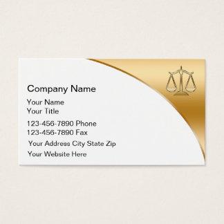 Cartões de visitas laterais dobro do advogado