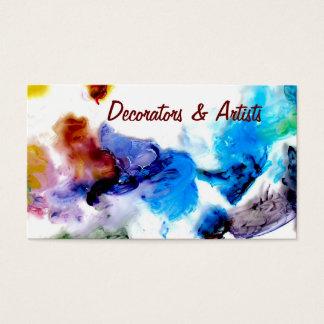 Cartões de visitas legal coloridos das pinturas