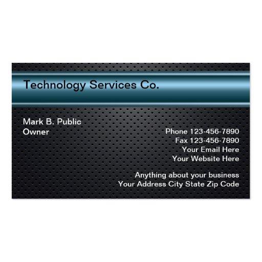 Cartões de visitas legal da tecnologia