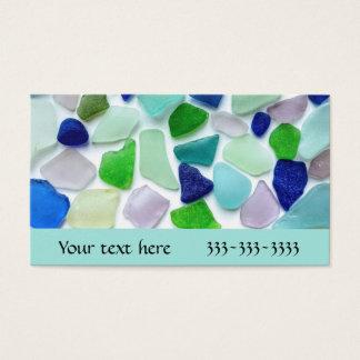 Cartões de visitas legal do vidro do mar das cores