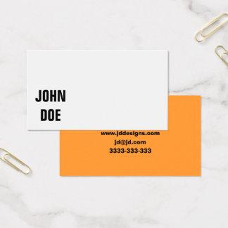Cartões de visitas lisos