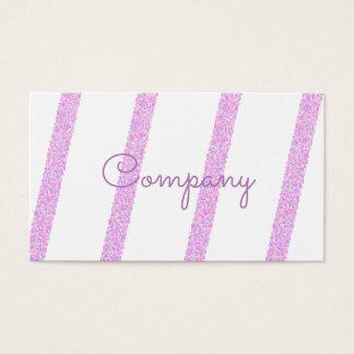 Cartões de visitas listrados cor-de-rosa elegantes