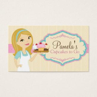 Cartões de visitas louros D13 do cupcake do