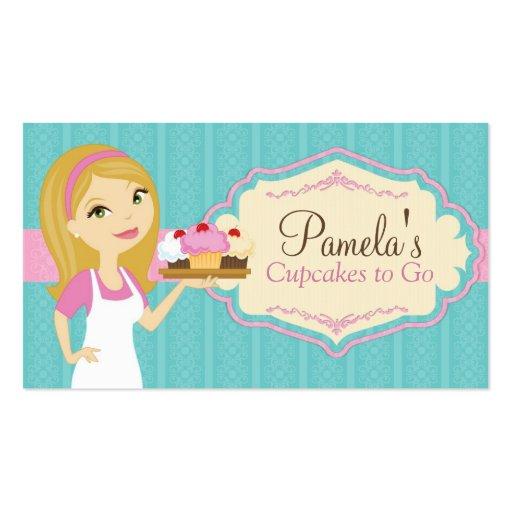 Cartões de visitas louros D15 do cupcake do padeir