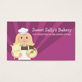 Cartões de visitas louros da farinha do cozinheiro