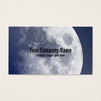 Cartões de visitas lunares da lua azul