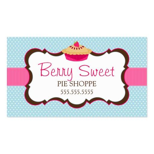 Cartões de visitas lunáticos da padaria da torta