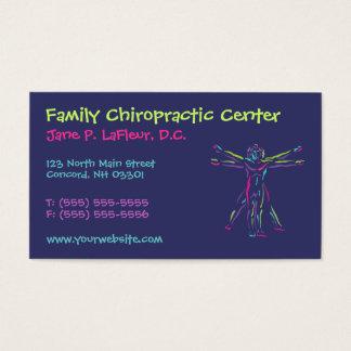 Cartões de visitas lunáticos da quiroterapia