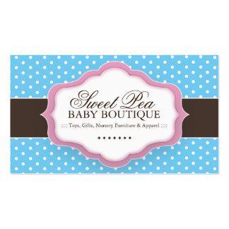 Cartões de visitas lunáticos do boutique do bebê