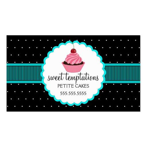 Cartões de visitas lunáticos do cupcake da padaria