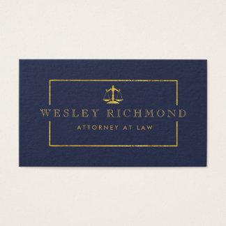 Cartões de visitas Luxe do advogado da parte alta
