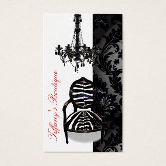 Cartões de visitas luxuosos do boutique do