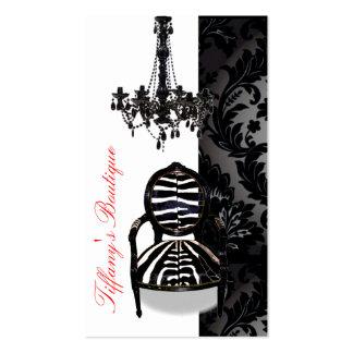 Cartões de visitas luxuosos do boutique do candela