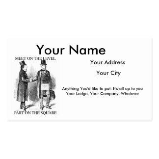 Cartões de visitas maçónicos