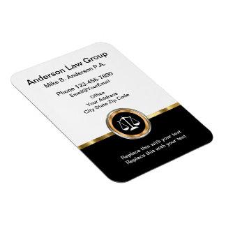 Cartões de visitas magnéticos do advogado elegante foto com ímã retangular