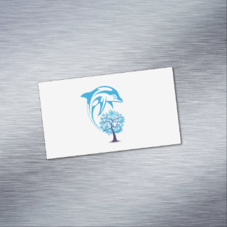 Cartões de visitas magnéticos do golfinho abstrato