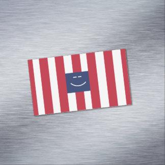 Cartões de visitas magnéticos quadrados do smiley
