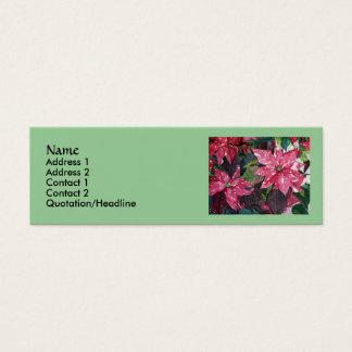 Cartões de visitas magros da poinsétia