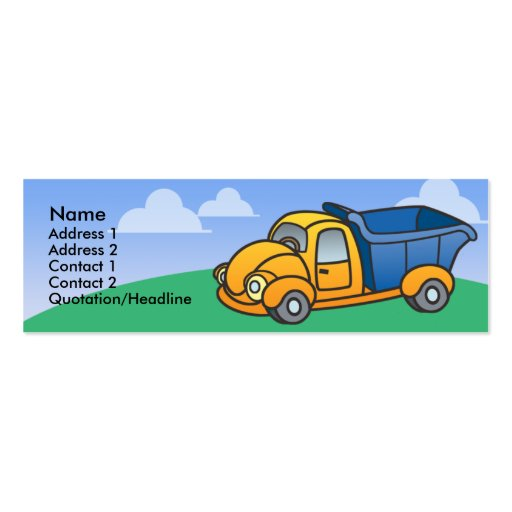 Cartões de visitas magros do camião basculante dos