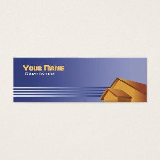 Cartões de visitas magros do carpinteiro