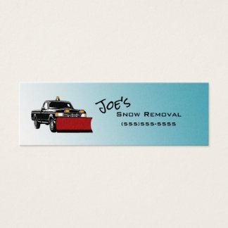 Cartões de visitas magros do serviço da remoção de